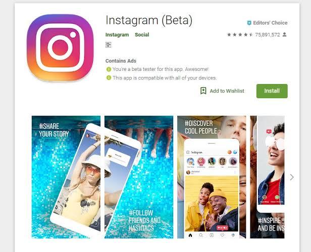 Download Instagram Beta