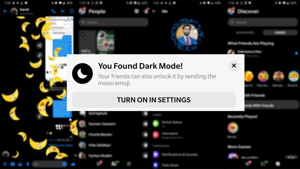 Facebook Dark Mode Settings