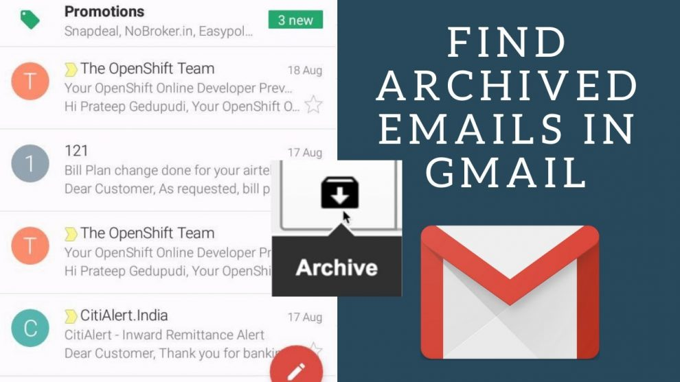 How to Access Archived Emails in Gmail